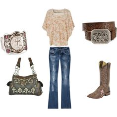 Classy Cowgirl<3, created by lacy-bilderback on Polyvore