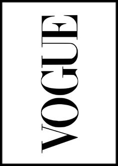Vogue in white art print Bad Girl Aesthetic, White Aesthetic, Poster Prints, Framed Prints, Art Prints, White Art, Black And White, Chanel Wallpapers, Poster Text