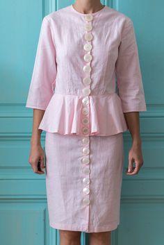 Big buttons on clothes Button Dress, Button Up, Fashion Dresses, Women's Fashion, Peplum Dress, Big, Winter, Summer, Closet