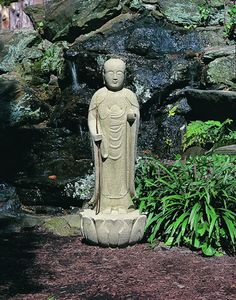 Morris Standing Buddha Cast Stone Buddha Statue Made By Campania  International Stone Garden Statues, Outdoor