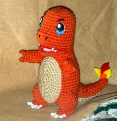 Charmander! Also instructions for making him with a closed mouth.