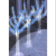 "Walmart: Set of 3 Pre-Lit Brown Christmas Twig Trees 29"" - Blue LED Lights"