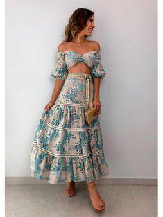 Fashion Tips For Women In Their Conjunto Linho Renda Pontas Boho Outfits, Skirt Outfits, Spring Outfits, Trendy Outfits, Boho Dress, Dress Skirt, Bohemian Dresses, Cute Dresses, Summer Dresses