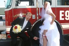 firefighter wedding flowers