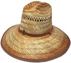 Headchange Wide Brim Lifeguard Hat Rush Straw Beach Sun Summer Surf Safari  Gardener c396cedea69c