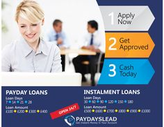 Apply now for a payday loan and get instant money in your bank account. No credit check required!!! Money will be deposited directly to your bank account.