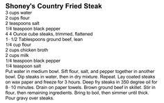 Shoney's Country Fried Steak