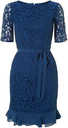 Adrianna Papell Double Ruffle Dress