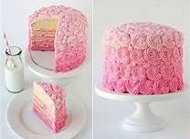 pink and gray baby shower cake - Bing Images