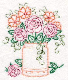 Machine Embroidery Machine Embroidery Designs at Embroidery Library! - New This Week Learn Embroidery, Machine Embroidery Patterns, Hand Embroidery Designs, Vintage Embroidery, Ribbon Embroidery, Cross Stitch Embroidery, Embroidery Ideas, Embroidered Towels, Quilling Patterns