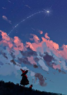 Illustration October 27 2019 at Japon Illustration, Anime Scenery Wallpaper, Witch Art, Arte Pop, Aesthetic Art, Landscape Art, Cute Wallpapers, Cute Art, Amazing Art