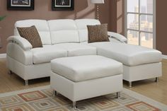 OCFurniture - Poundex Reversible 3-PCS Bonded Leather Sectional Sofa Set , (http://www.ocfurniture.com/poundex-reversible-3-pcs-bonded-leather-sectional-sofa-set/)