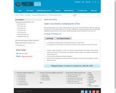 Our CFO executives' mailing solutions allow you to reach specialized markets, professionals and trade bodies with greater accuracy and speed compared to what you gain from standard compiled files. You can split our finance database by industry, name, region, job title, revenue or size of company.  http://www.procuredata.com/cfos-from-software-industry/