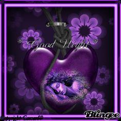 Purple Good Night People   good night