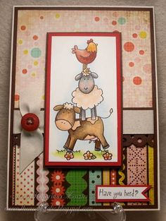 Moo, baa, cluck cluck! by KatarinaM - Cards and Paper Crafts at Splitcoaststampers
