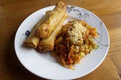 Twente Vegan - Huisgemaakte loempia's met groentemix
