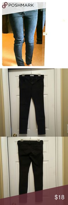 Abercrombie and Fitch faded black jeans Black stretch jeans, faded, skinny fit, low rise Abercrombie & Fitch Jeans Skinny