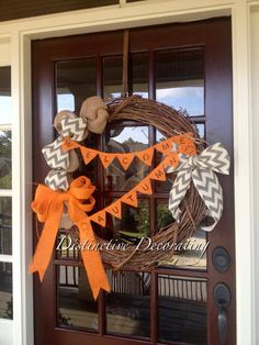 "fall ""welcome autumn"" grapevine wreath with burlap embellishments Halloween Crafts, Holiday Crafts, Holiday Ideas, Holiday Decor, Animal Clinic, Pet Clinic, Grapevine Wreath, Burlap Wreath, Entryway Ideas"