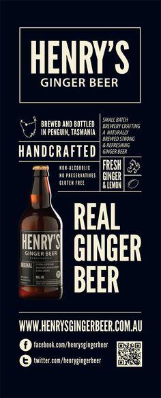 Henry's Ginger Beer - Banner Design