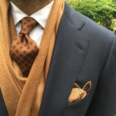 "violamilano: ""Autumn Style by @suitwhisper ➡️ Viola Milano handprinted 7-fold silk tie, luxury solid 100% zibellino cashmere scarf, Classic slimline shirt & Unicorn printed wool/silk pocket square… Shop online at www.violamilano.com #violamilano..."