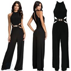 nice 2015 Completely new Summer time Informal Rompers Ladies Jumpsuit As well as Playsuit Attractive Macacao Feminino Hollowed out Away Sewing Dark Rompers