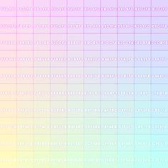 pastel colour chart