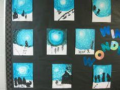 The Lesson Cloud: Winter Scene Art