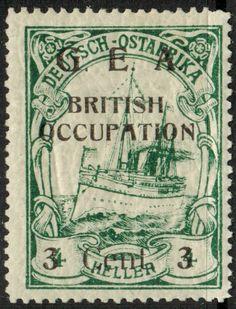 German East Africa British Occupation 3c 1918