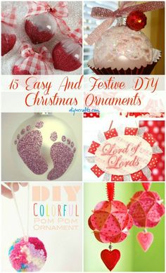 15 Easy And Festive DIY Christmas Ornaments – DIY & #Christmas Decor| http://christmas-decor-styles-572.lemoncoin.org