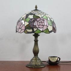Cheap table lamp, Buy Quality rose table lamp directly from China vintage desk lamp Suppliers:         Creative Arts Pink Rose Table Lamp Tiffany European Vintage Desk Lamp Bedroom Bedside Light Dia30cm          &nb