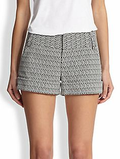 Alice + Olivia - Caddy Printed Cuff Shorts