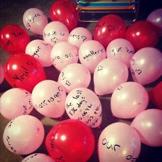 Write reasons why you love someone on a bunch of balloons and surprise them with them spread out in the living room!