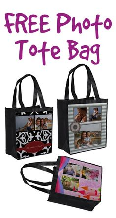 FREE Photo Tote Bag! {just pay s/h} ~ make one for the beach, groceries, or to give as a fun gift!  #photo #bags
