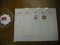 Spanish syllable sorting - This is a great blog from a bilingual teacher that uses a lot of Montessori activities!