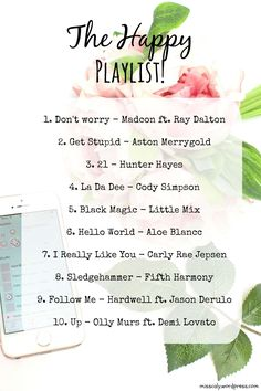 The Happy Songs Playlist! the happy playlist Sing To Me, Songs To Sing, Music Songs, Music Videos, Dance Music, Music Mood, Mood Songs, Sound Of Music, New Music