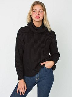 Our soft and cozy Fisherman Turtleneck Sweater – Now in cotton! This oversized Pullover will keep you warm during the winter months and features drop shoulders and a loose comfortable turtleneck.