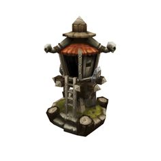 Low Poly RTS Orc Tower 01 from Bitgem