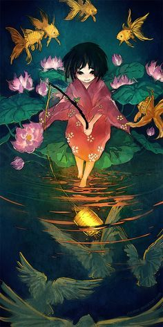 Fishing Birds by yuumei.deviantart.com on @DeviantArt