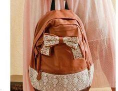 usd39.99/Fashion Brown Lace Backpa..