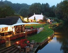 Le Talbooth, Dedham, Essex where we played a memorable wedding for Peter Suchet (brother of David from Poirot fame!) @simplyswingband