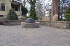 Sitting Wall and Fire Pit- Techo Bloc - Hardscaping