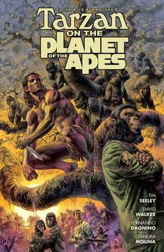 Tarzan on the Planet of the Apes #1, This book is so right on that it can't be over the top enough.,  #All-Comic.com #DarkHorse #DarkHorseComics #DavidWalker #DuncanFegredo #FernandoDagnino #MattStrackbein #PlanetoftheApes #review #SandraMolina #Tarzan #TarzanonthePlanetoftheApes #TarzanonthePlanetoftheApes#1 #TimSeeley