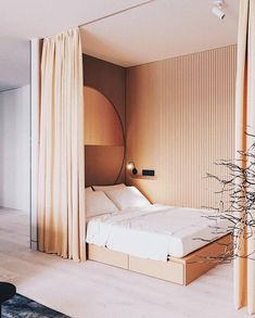 5 things that curtains can hide inside a bedroom (apart from the windows!) is part of Things That Curtains Can Hide Inside A Bedroom Apart From - Bedroom interior design ideas, how to use curtains in the bedroom, curtains as room dividers, bed drapes Bedroom Colors, Home Decor Bedroom, Bedroom Curtains, Bedroom Small, Bedroom Ideas, Trendy Bedroom, Bedroom Girls, Bedroom Modern, Bedroom Furniture