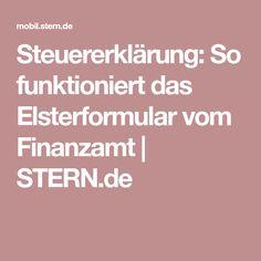 Steuererklärung: So funktioniert das Elsterformular vom Finanzamt | STERN.de