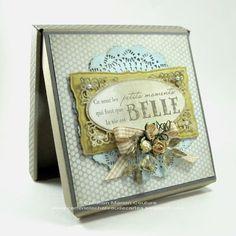 Boitatou-kraft et sa carte. Boitatou and card kraft. Created by Kasimodo. Christmas Cards, Creations, Box, Frame, Shabby, Winter, Decor, Small Moments, Cards