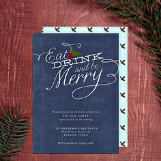 Holiday Party Invitations - Christmas & New Year's - Printable DIY Design