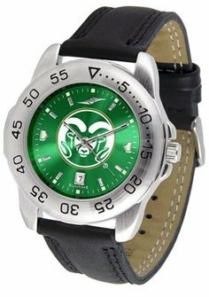 Colorado State University Rams Sport Leather Band Anochrome - Men's - Men's College Watches by Sports Memorabilia. $50.76. Makes a Great Gift!. Colorado State University Rams Sport Leather Band Anochrome - Men's