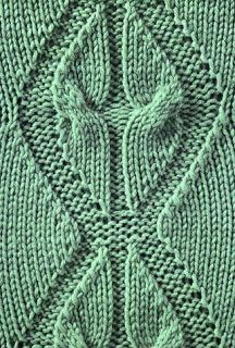 Beautiful & unusual #Knitting #Stitch - Angel Wings Cable - Alas, there's no chart and the stitch is 36 rows. I might just have to chart this one!!
