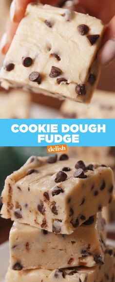 Cookie dough lovers: this fudge is going to give you the ultimate high. Get the recipe at delish.com.