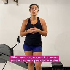 If you don't know what it feels like to use your lat muscles, then this trick is for you! It's important we use our lats in the rowing stroke. #learntorow #howtorow #rowingtricks #rowingpower #crossfitrowing Indoor Rowing, Crossfit, Muscles, The Row, Feels, Exercise, Blog, Ejercicio, Excercise